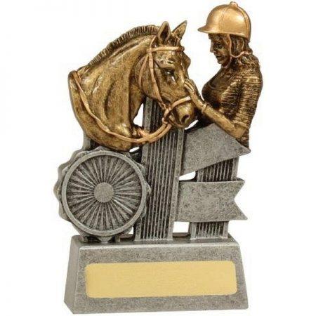 Horse-Trophy-Silver-Ribbon
