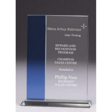 Glass Awards – Clear/Blue