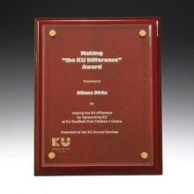 Premium Rosewood Plaque with Acrylic Front
