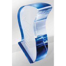 Crystal Kaleido Ribbon Blue Reflections