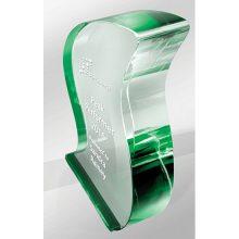 Crystal Kaleido Ribbon Green Reflections