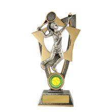 Ezi-Rez Female Tennis Trophy With 25mm Centre