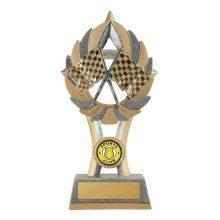 Ezi-Rez Crossed Flags Trophy With 25mm Centre