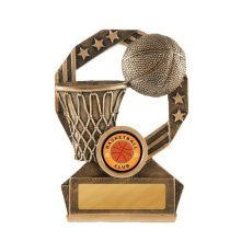 Bronzed Aussie Basketball Trophy With 25mm Centre