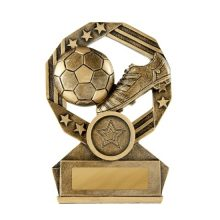 Bronzed Aussie Football Trophy With 25mm Centre