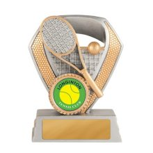Shield Series Tennis Trophy With 25mm Centre