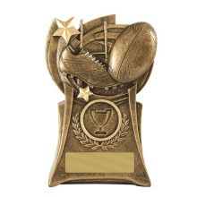 Phoenix Rugby Trophy With 25mm Centre