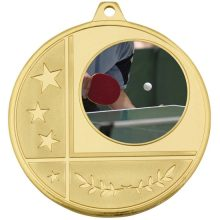 Glacier Frosted Medal Gold With 25mm Centre