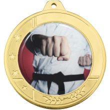 Glacier Frosted Medal Gold With 50mm Centre