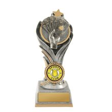 Flame Tower Poker Trophy With 25mm Centre