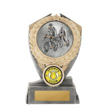 Hero Shield Cycling Trophy With 25mm Centre
