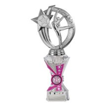 Silver/Pink Gymnastics Trophy With 25mm Centre