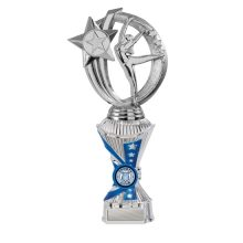 Silver/Blue Gymnastics Trophy With 25mm Centre
