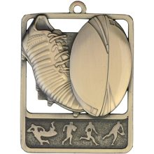 Rugby Medal Gold