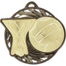 Netball Medal Gold